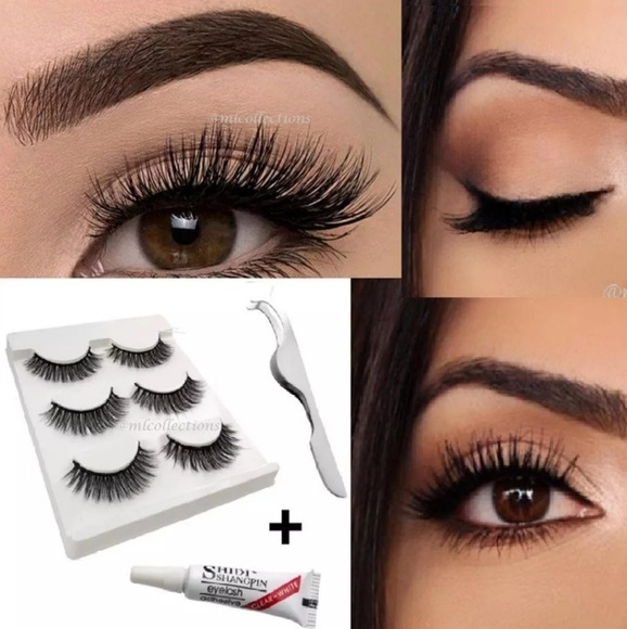 Makeup 3pcs Super Thick Natural False Eyelashes Poshmark